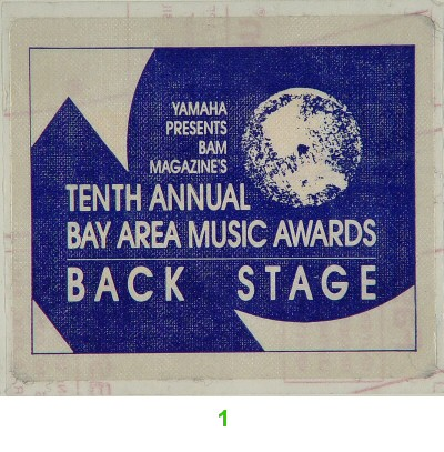 Bay Area Music Awards Backstage Pass