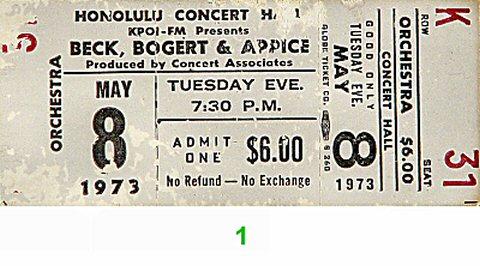 Beck Bogert & Appice Vintage Ticket