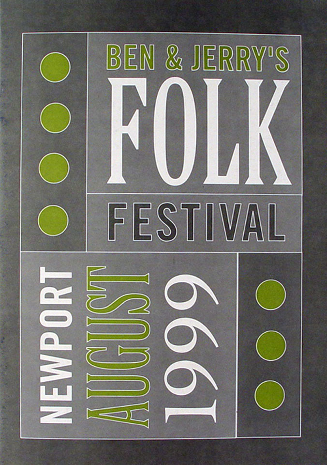 Ben And Jerry's Folk Festival Program