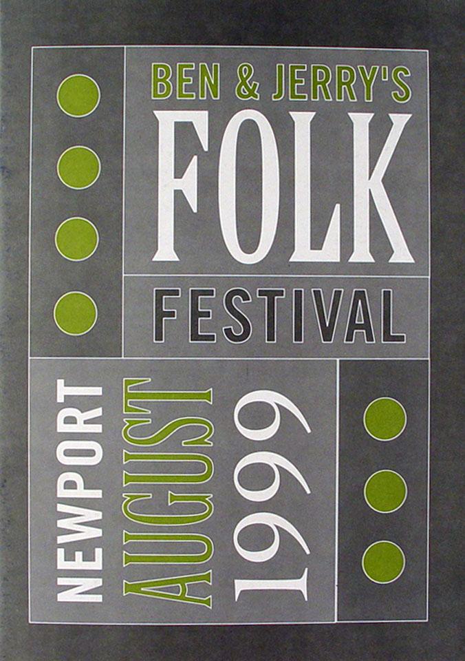 Ben And Jerry's Folk Festival Program