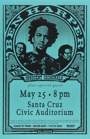 Ben Harper & The Innocent Criminals Poster