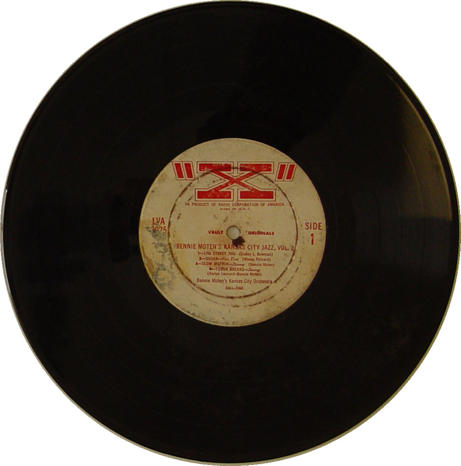 "Bennie Moten's Kansas City Orchestra Vinyl 10"" (Used)"