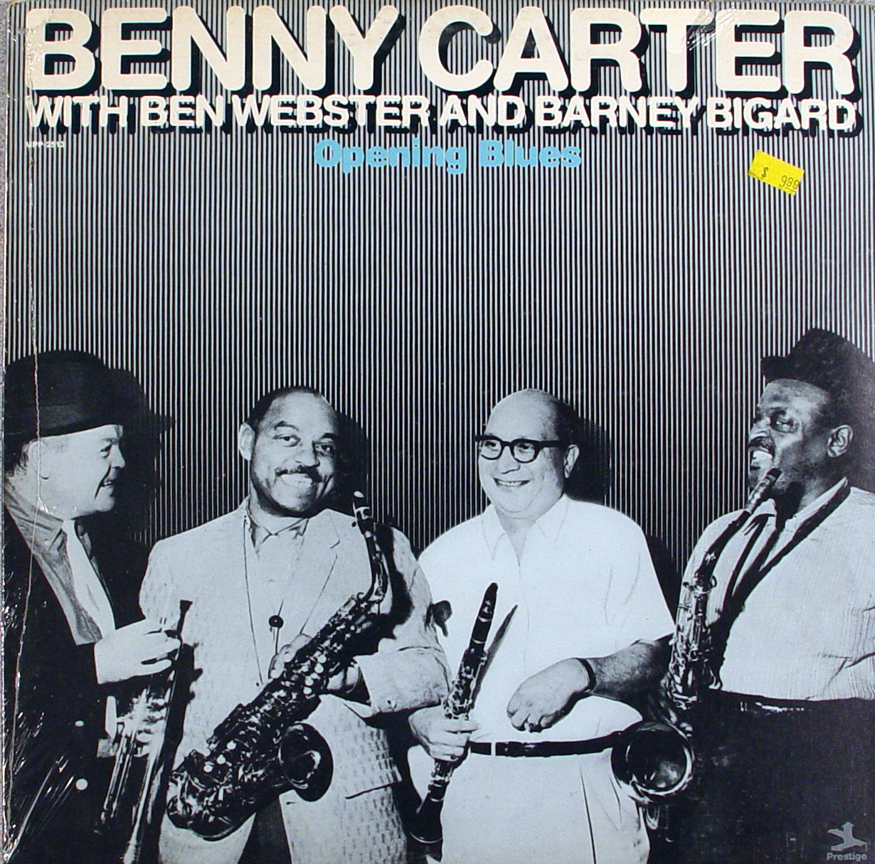 """Benny Carter with Ben Webster And Barney Bigard Vinyl 12"""" (New)"""