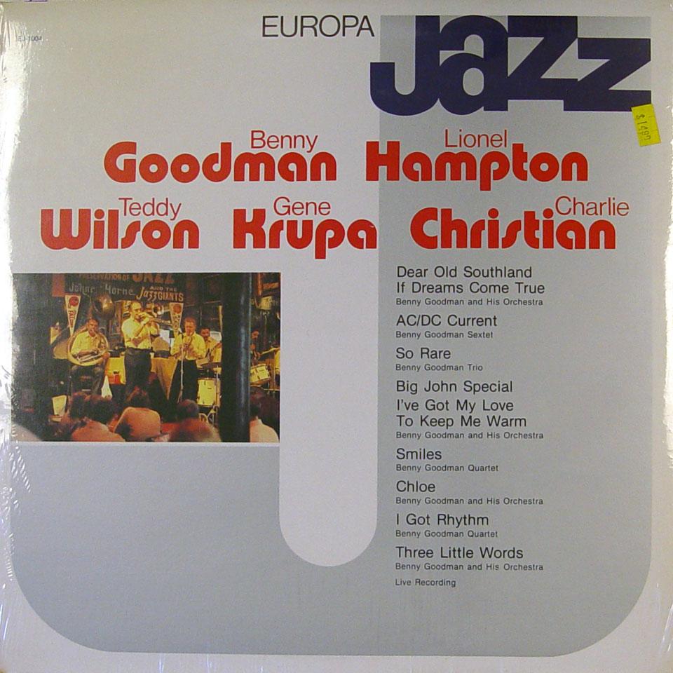 "Benny Goodman / Lionel Hampton / Teddy Wilson / Gene Krupa / Charlie Christian Vinyl 12"" (New)"