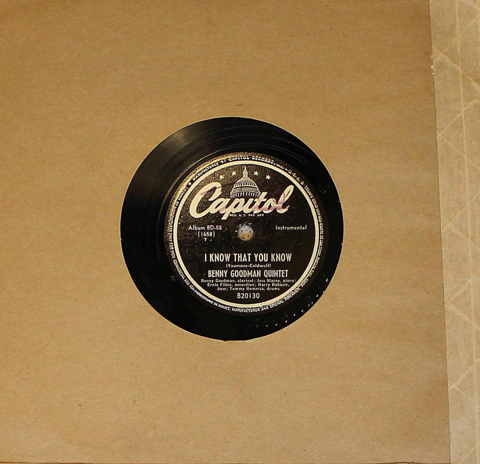 Benny Goodman / Paul Weston 78