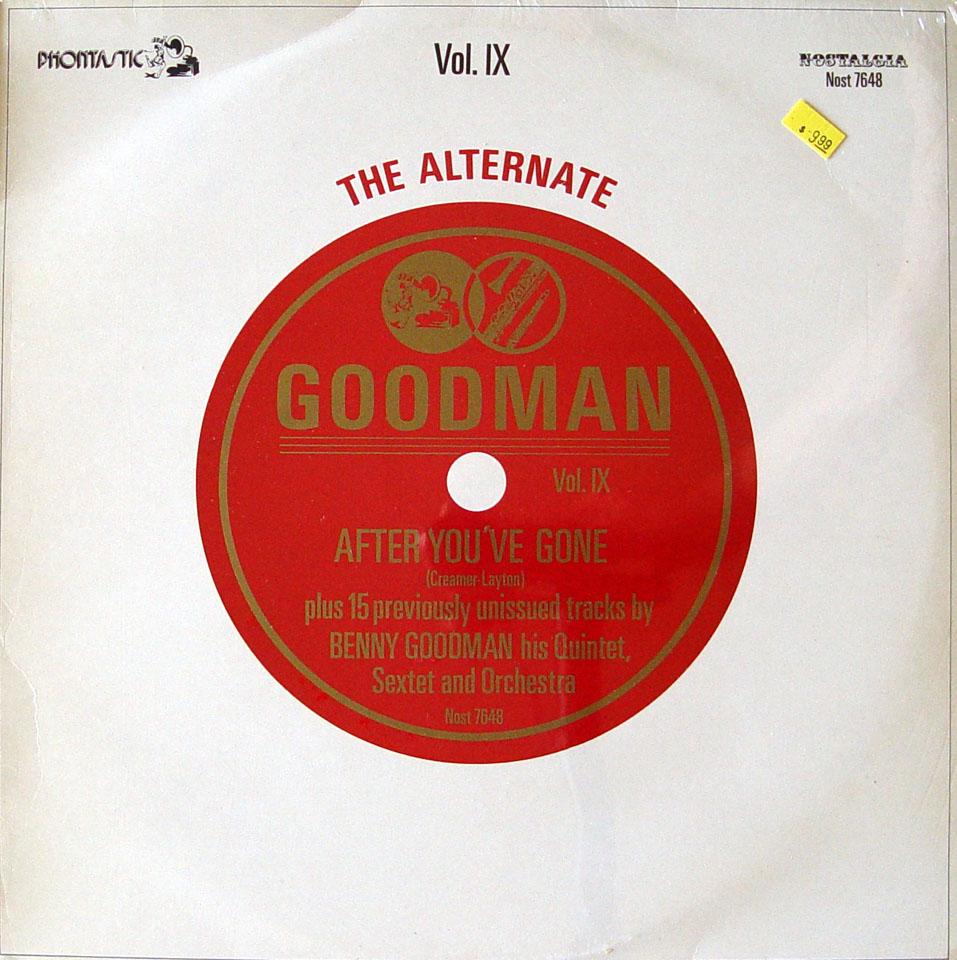 """Benny Goodman Quartet, Sextet And Orchestra Vinyl 12"""" (New)"""