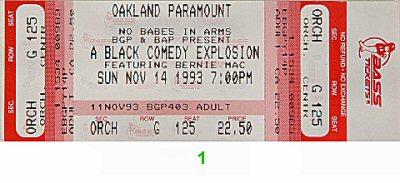 Bernie Mac Vintage Ticket