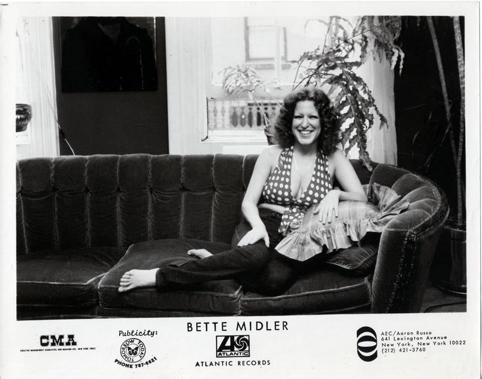 Bette Midler Promo Print
