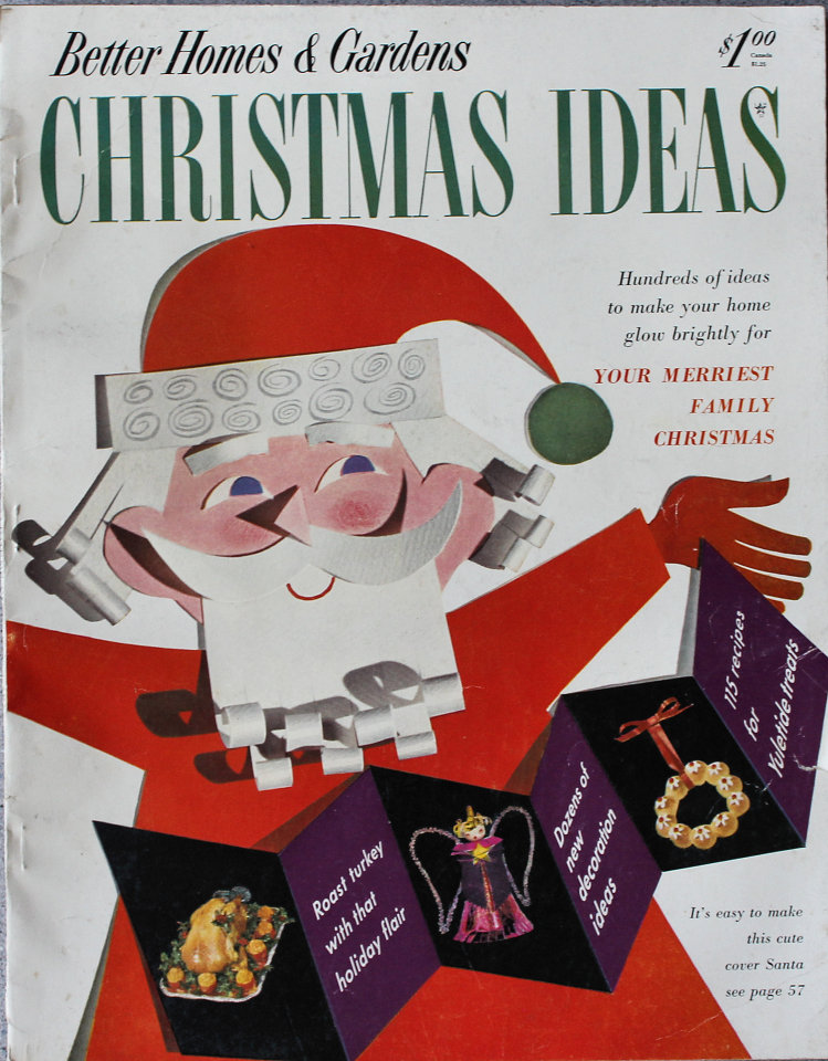 Better Homes And Gardens Christmas Ideas Magazine, 1953 at Wolfgang\'s