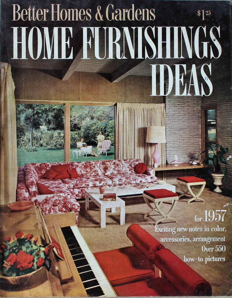 better homes and gardens home furnishing ideas magazine 1957 at