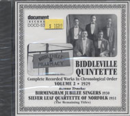 Biddleville Quintette CD
