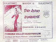 Big Audio Dynamite Handbill