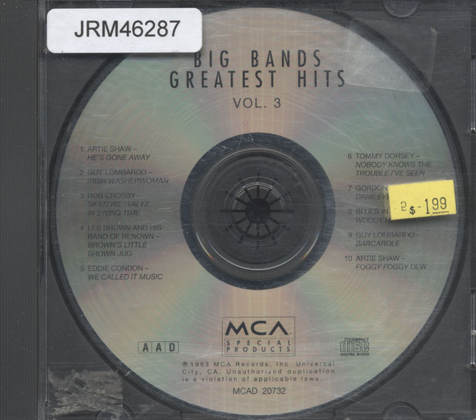 Big Bands Greatest Hits: Vol. 3 CD
