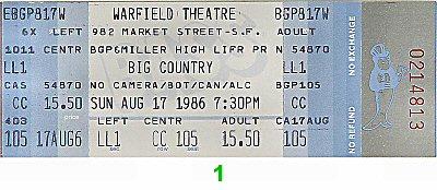 Big Country Vintage Ticket