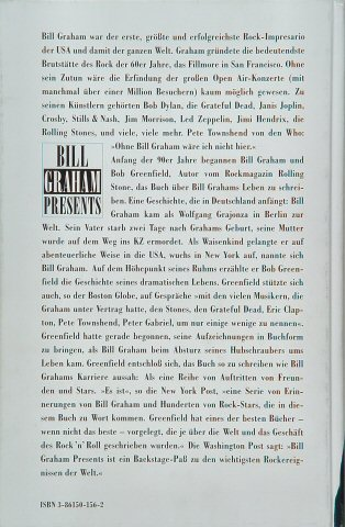 Bill Graham Presents: My Life Inside Rock and Out reverse side