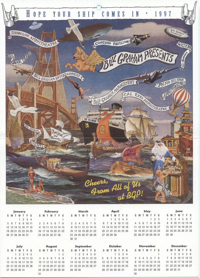 Bill Graham Presents Calendar reverse side
