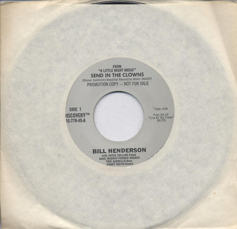 """Bill Henderson Vinyl 7"""" (Used)"""