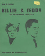 Billie & Teddy on Microgroove 1932 - 1944 Book