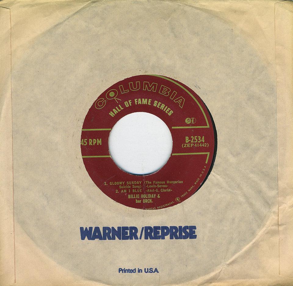 "Billie Holiday Vinyl 7"" (Used)"