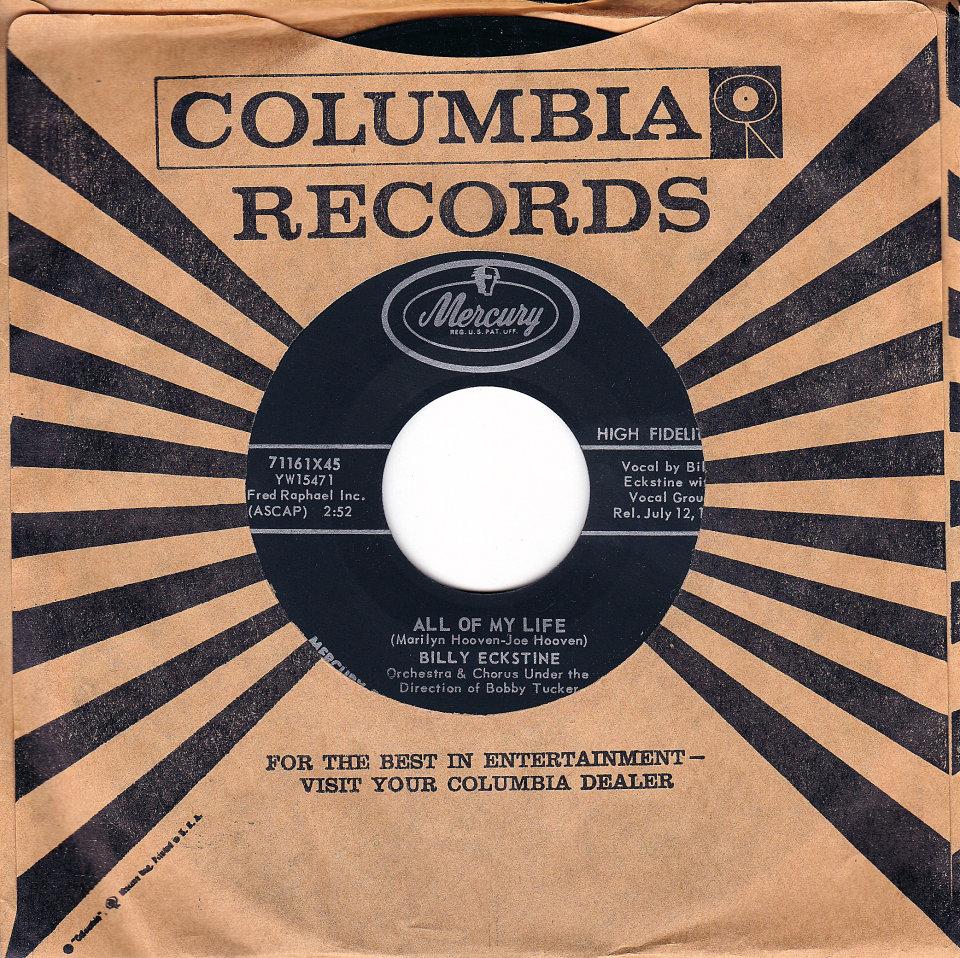 """Billy Eckstine Vinyl 7"""" (Used)"""