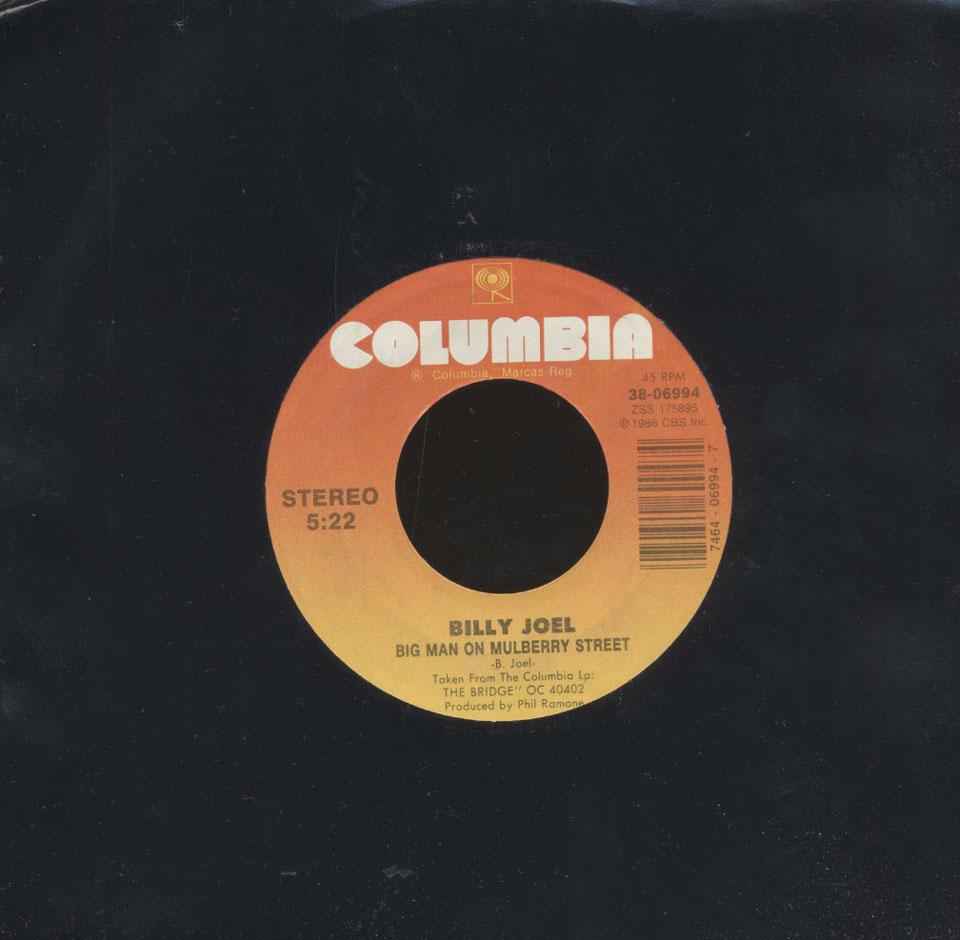 """Billy Joel / Ray Charles Vinyl 7"""" (Used)"""
