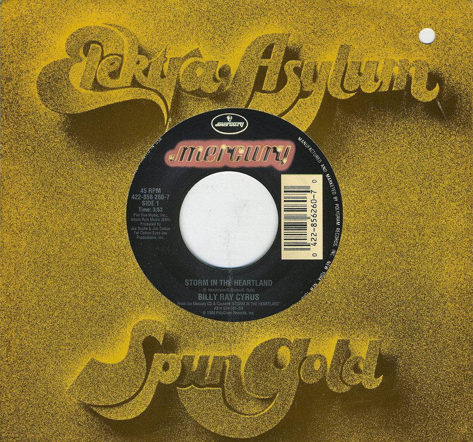 "Billy Ray Cyrus Vinyl 7"" (Used)"