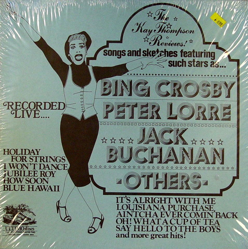 "Bing Crosby / Peter Lorre / Jack Buchanan Vinyl 12"" (New)"