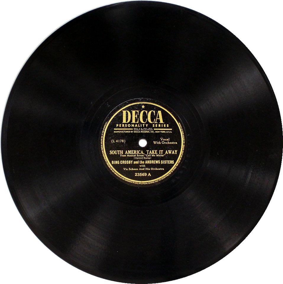 """Bing Crosby Vinyl 10"""" (Used)"""