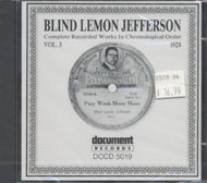 Blind Lemon Jefferson CD