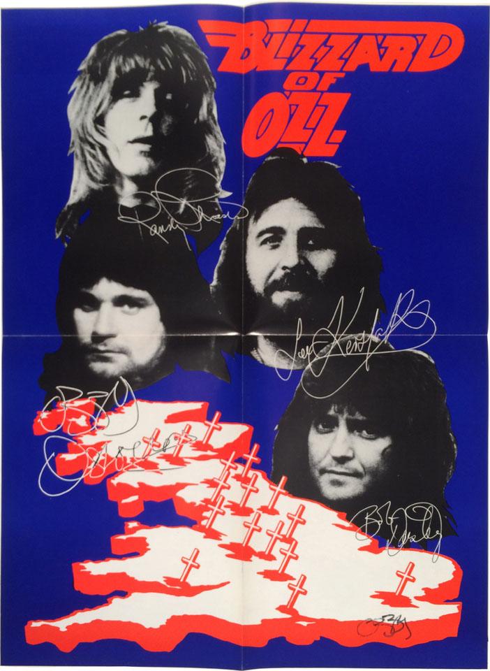 Blizzard of Ozz Poster