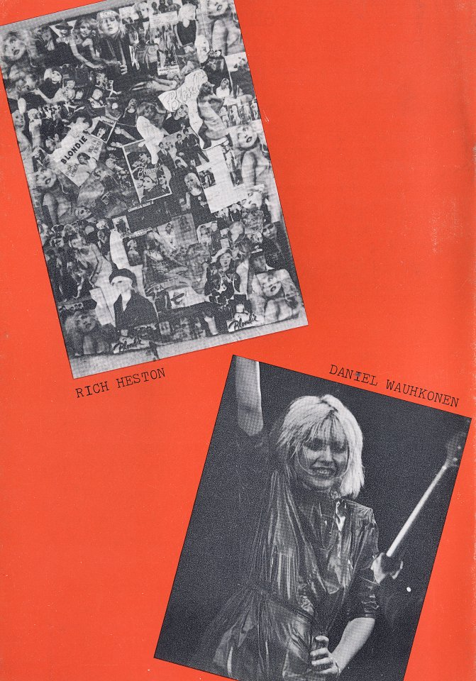 Blondie Program reverse side