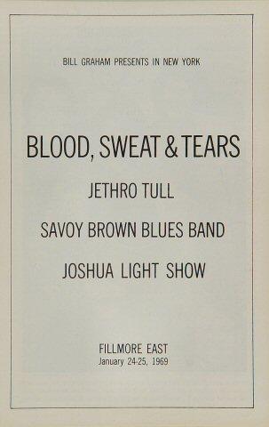 Blood, Sweat and Tears Program reverse side