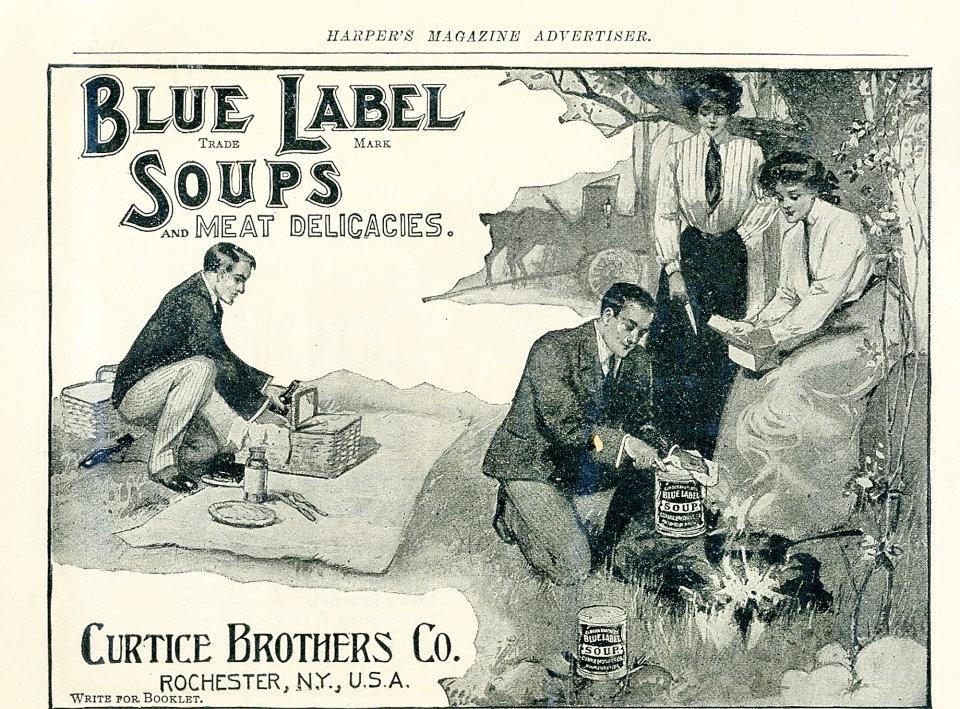 Blue Label Soups Vintage Ad