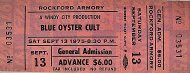 Blue Oyster Cult Vintage Ticket