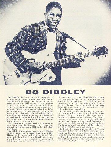 Bo Diddley Program reverse side