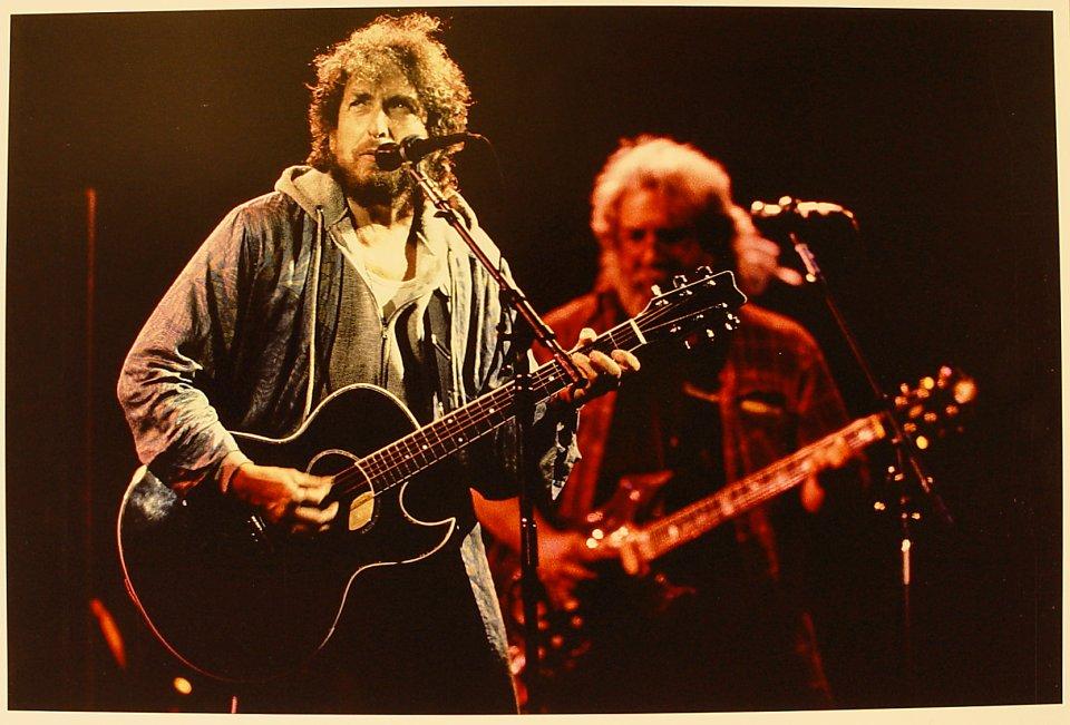 Bob Dylan And Jerry Garcia Vintage Print