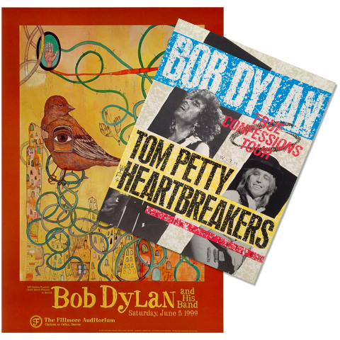 Bob Dylan Poster/Program Bundle