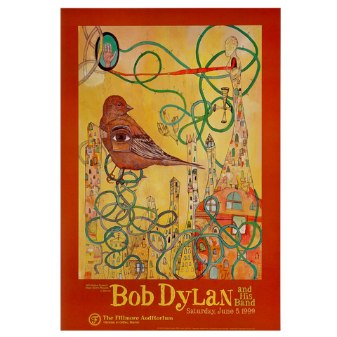 Bob Dylan Poster/Program Bundle reverse side