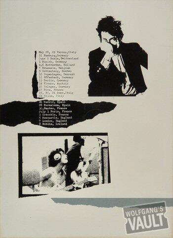 Bob Dylan Program reverse side
