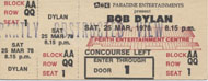 Bob Dylan Vintage Ticket