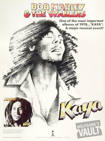 Bob Marley and the Wailers Program reverse side