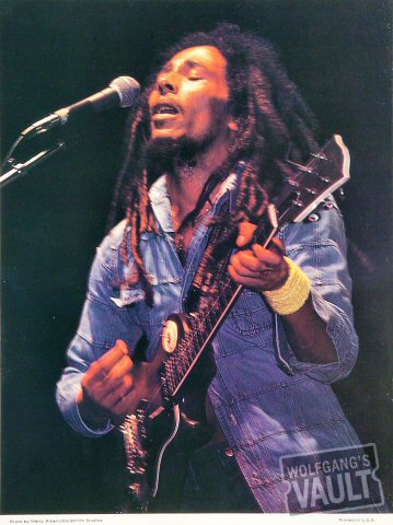 Bob Marley and the Wailers Program reverse side
