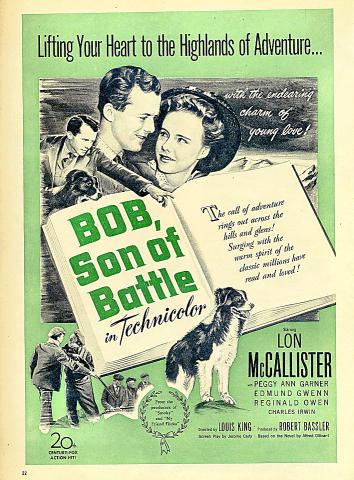 Bob, Son Of Battle Vintage Ad