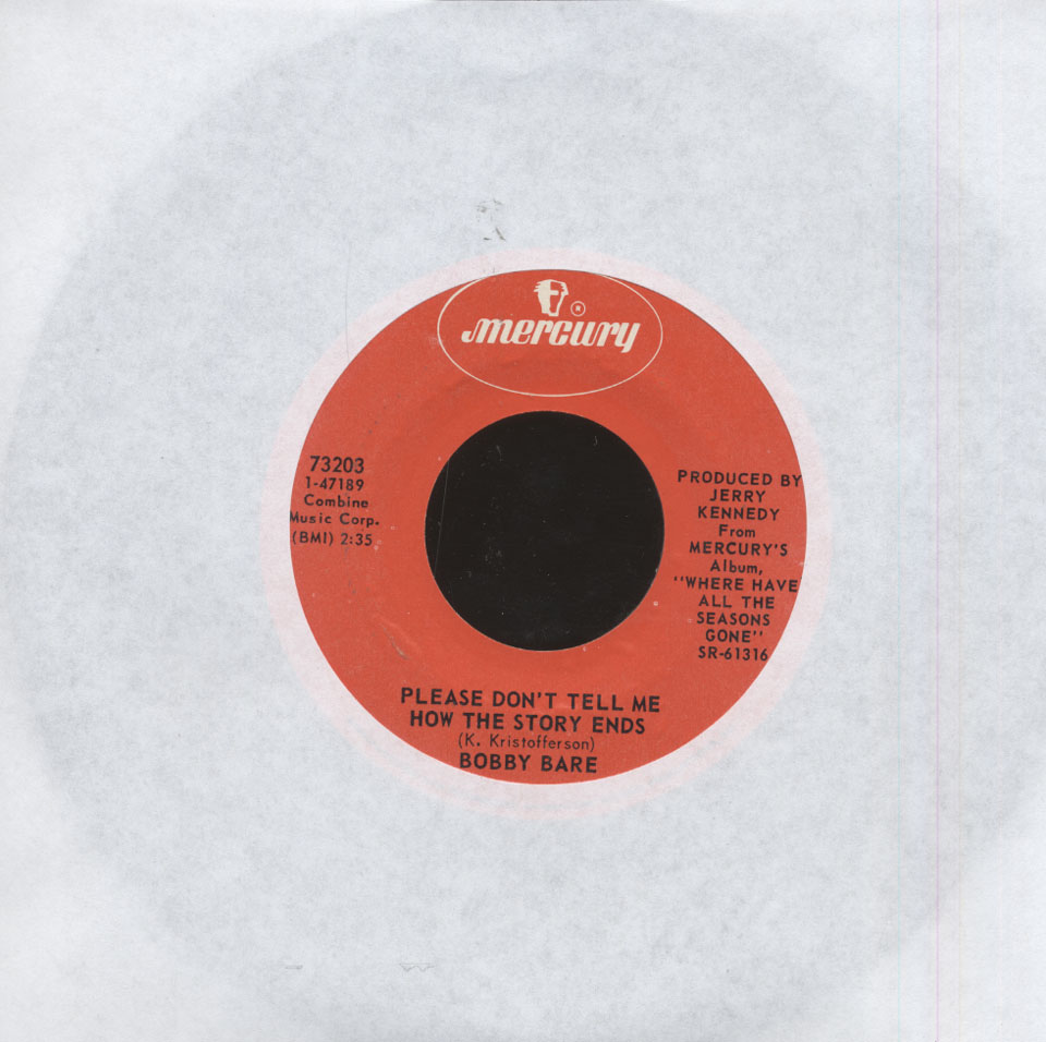 """Bobby Bare Vinyl 7"""" (Used)"""