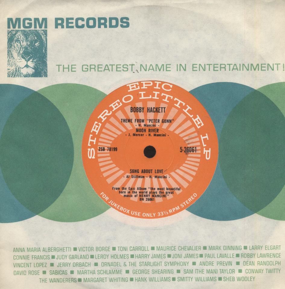 "Bobby Hackett Vinyl 7"" (Used)"