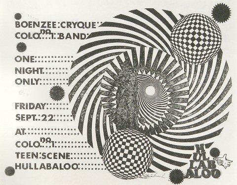 Boenzee Cryque Handbill
