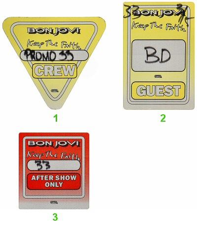 Bon Jovi Backstage Pass