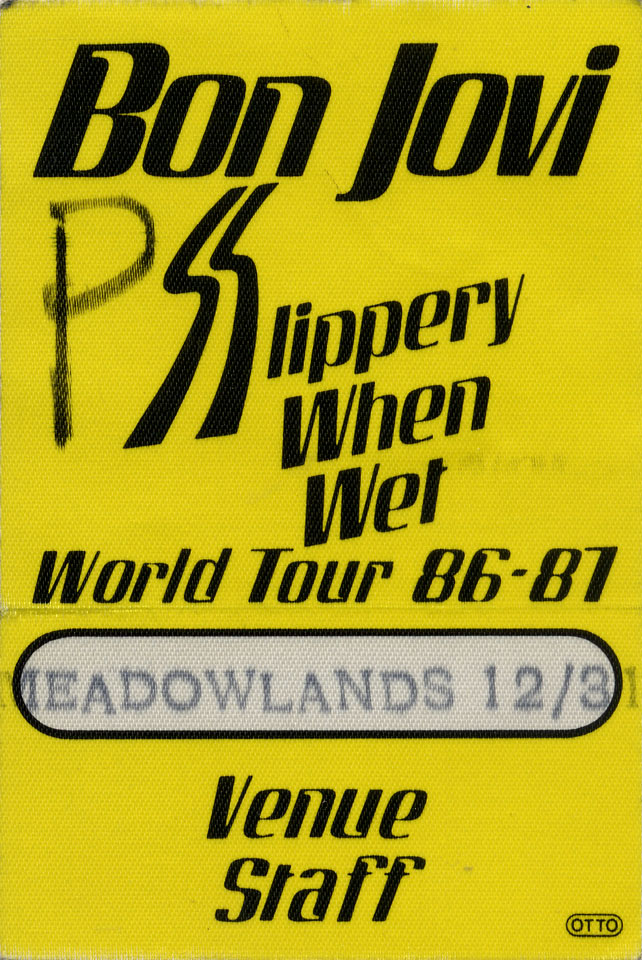 Bon Jovi Backstage Pass