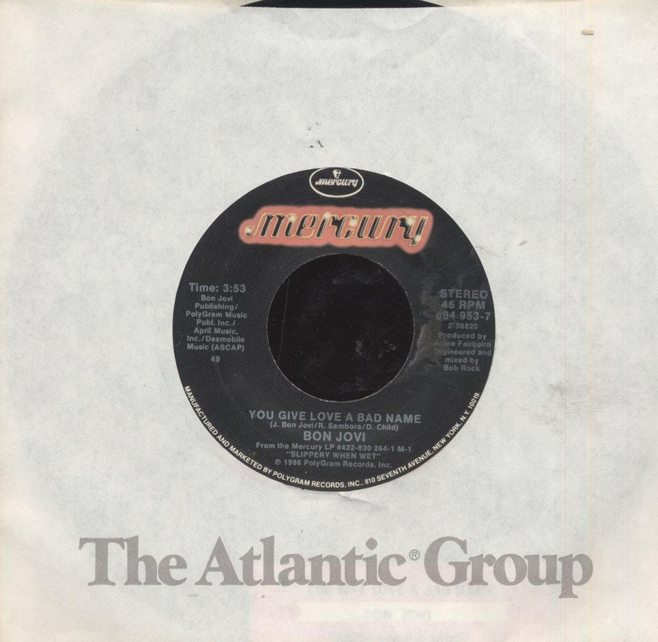 """Bon Jovi Vinyl 7"""" (Used)"""