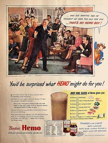 Borden's Hemo...That's My Hemo Boy! Vintage Ad